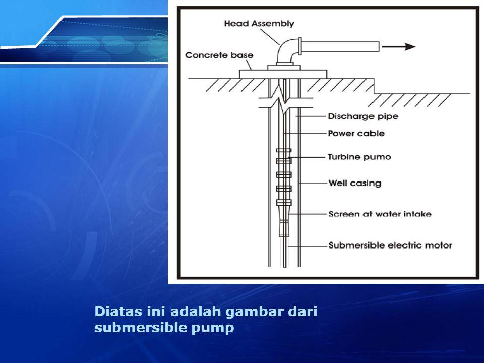 Diatas ini adalah gambar dari submersible pump