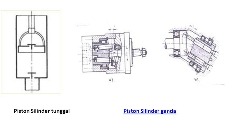 Piston Silinder tunggalPiston Silinder ganda