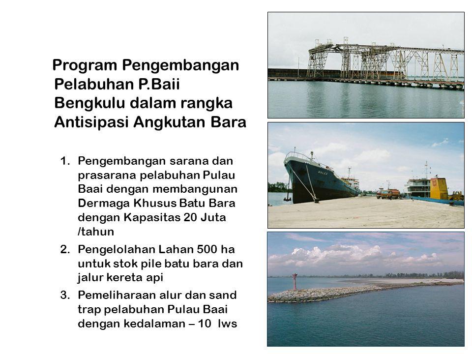 Program Pengembangan Pelabuhan P.Baii Bengkulu dalam rangka Antisipasi Angkutan Bara 1.Pengembangan sarana dan prasarana pelabuhan Pulau Baai dengan m