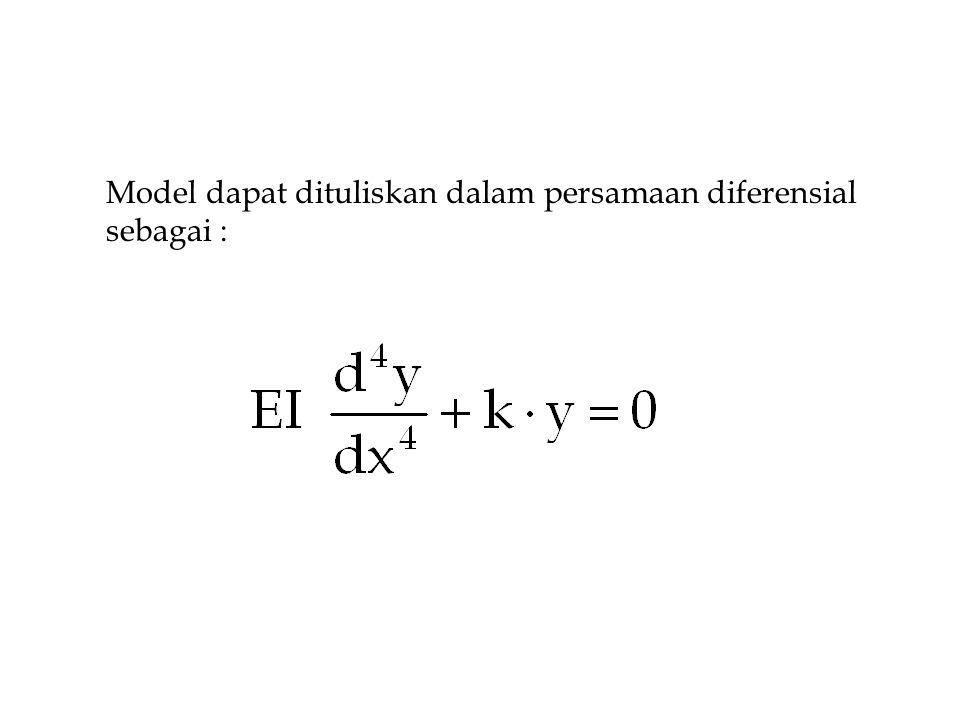 Model dapat dituliskan dalam persamaan diferensial sebagai :