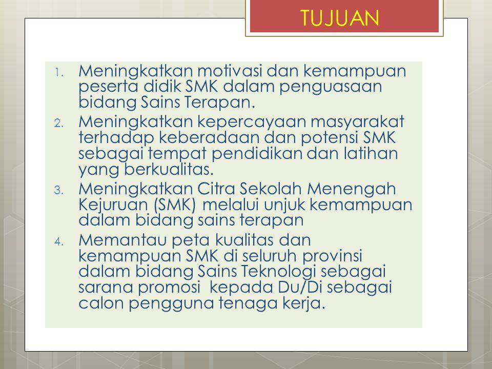 SEKILAS OSTN-SMK 2010 1.Kompetisi Sains Teknologi SMK Tingkat Provinsi Jawa Tengah 2.