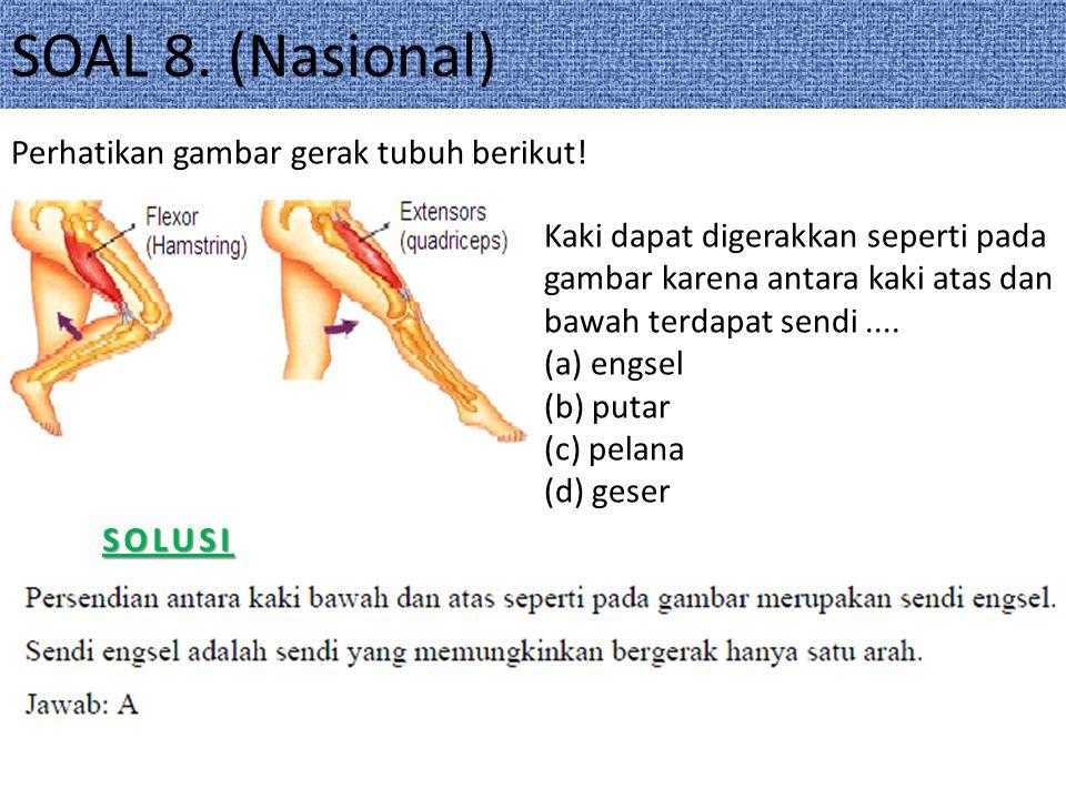 SOAL 8.(Nasional)SOLUSI Perhatikan gambar gerak tubuh berikut.