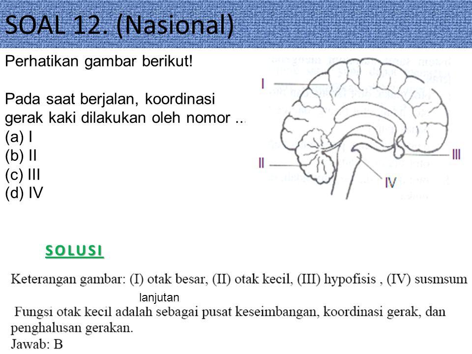 SOAL 12.(Nasional)SOLUSI Perhatikan gambar berikut.