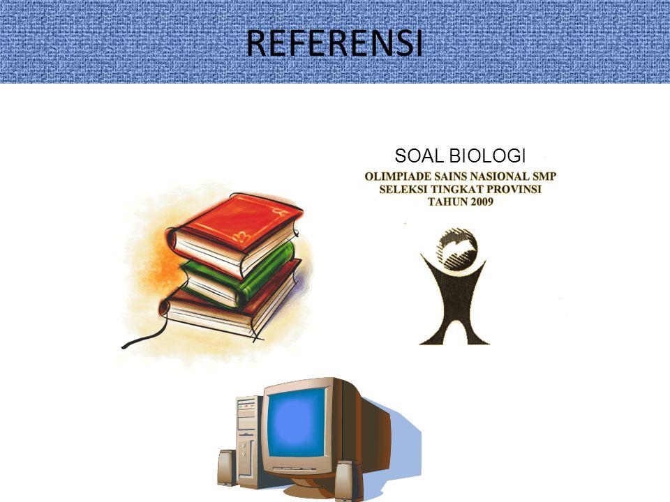 REFERENSI SOAL BIOLOGI