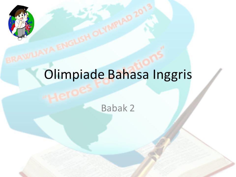 Olimpiade Bahasa Inggris Babak 2