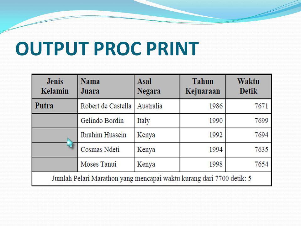 OUTPUT PROC PRINT
