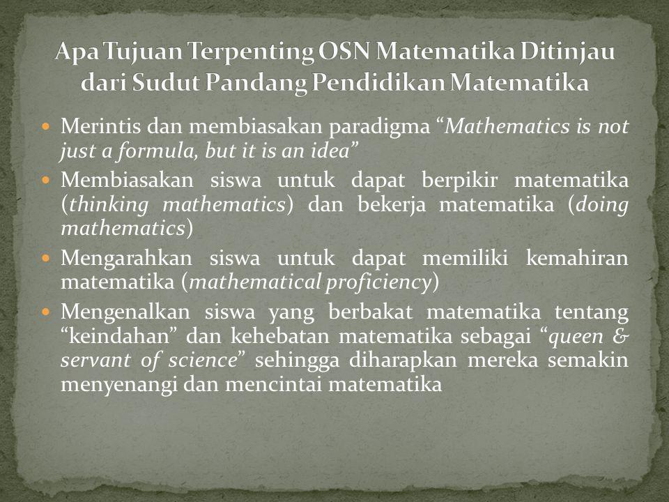 OSN I 2002 khusus SMA (Matematika, Biologi, Kimia dan Komputer) di Yogyakarta tanggal 9 -12 September 2002.