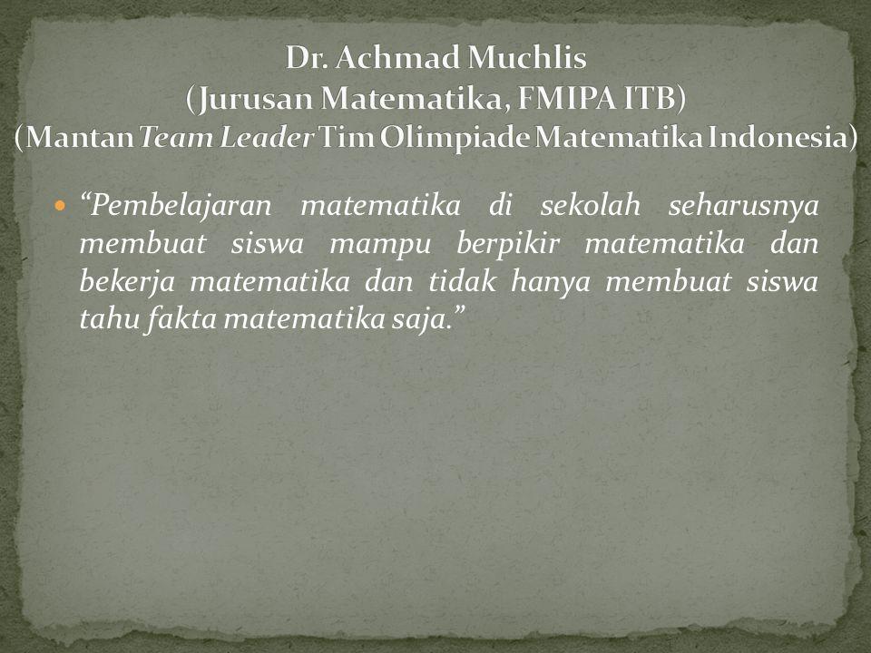 Kelemahan utama peserta IMO dari Indonesia adalah dalam hal menuliskan gagasan ke dalam tulisan (komunikasi tulis).