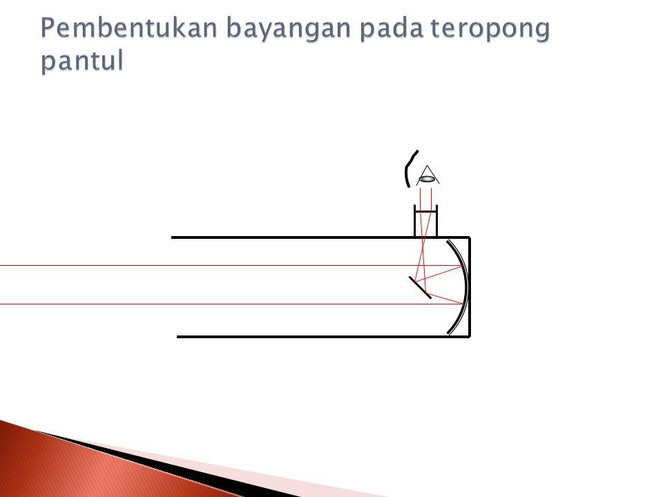 Teropong pantul merupakan teropong yang menggunakan cermin cekung sebagai pengganti lensa objektif.