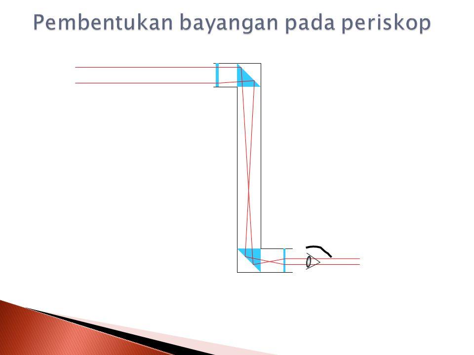 Periskop adalah teropong yang digunakan pada kapal selam untuk melihat keadaan diatas air.
