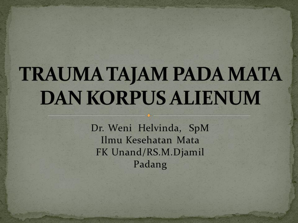Dr. Weni Helvinda, SpM Ilmu Kesehatan Mata FK Unand/RS.M.Djamil Padang