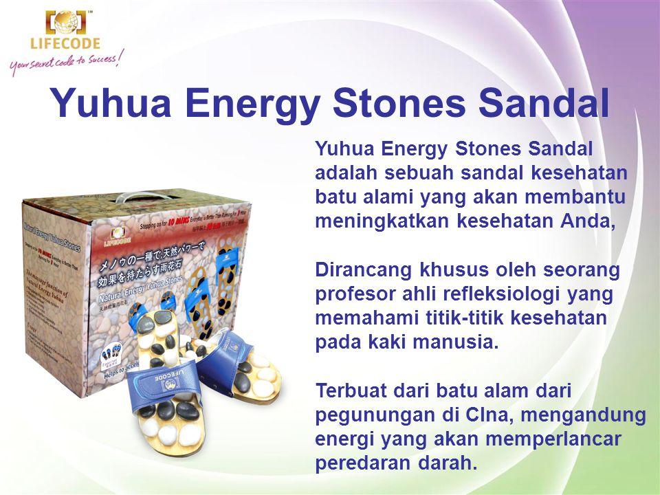 Yuhua Energy Stones Sandal Jika titik ini dipijit, dan menimbulkan rasa sakit, maka hal tersebut mengindikasikan adanya gangguan pada salah satu organ tubuh kita Dengan pemijatan yang benar, maka akan merangsang peredaran darah yang lebih lancar.