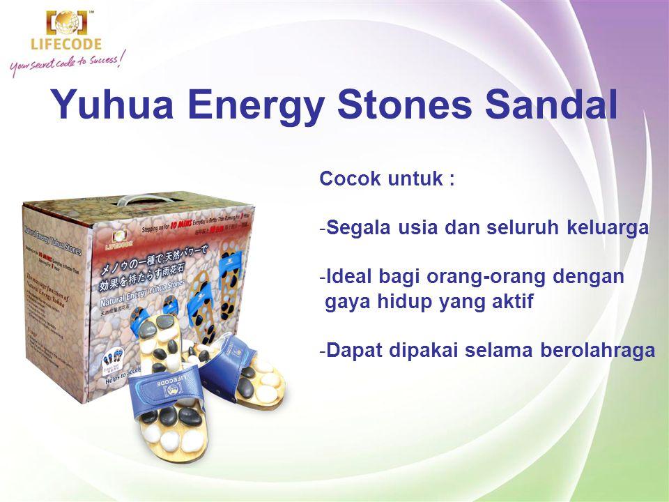 Yuhua Energy Stones Sandal Memijit titik pada permukaan telapak kaki Anda.