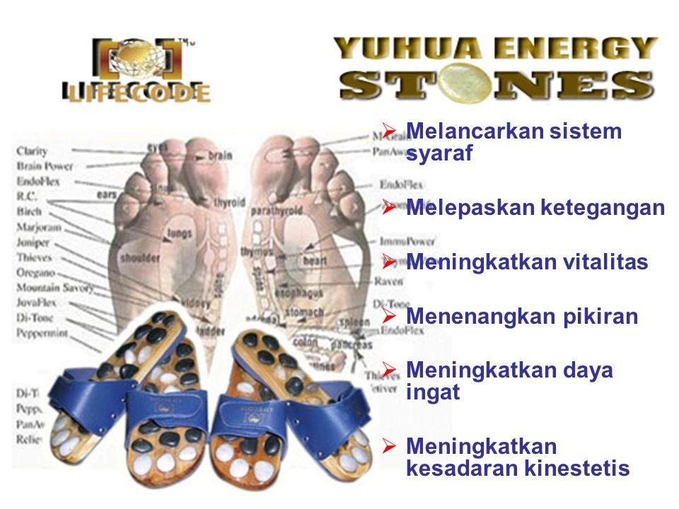 Yuhua Energy Stones Sandal Anjuran : Sebelum melangkah dengan Yuhua Energy Stones Sandal, minumlah 1 gelas air hangat.