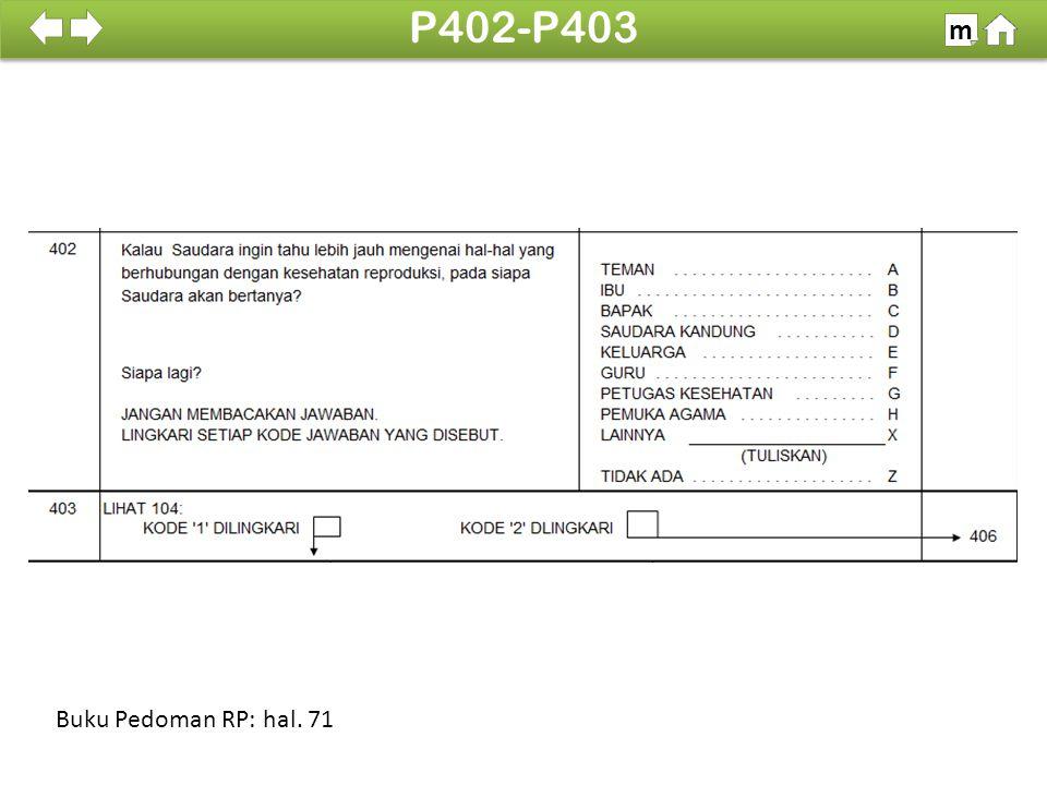 100% SDKI 2012 P402-P403 m Buku Pedoman RP: hal. 71
