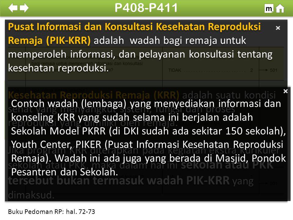 Jenis pelayanan yang diinginkan pada P413 adalah pelayanan yang belum tercakup di tempat yang responden kunjungi.