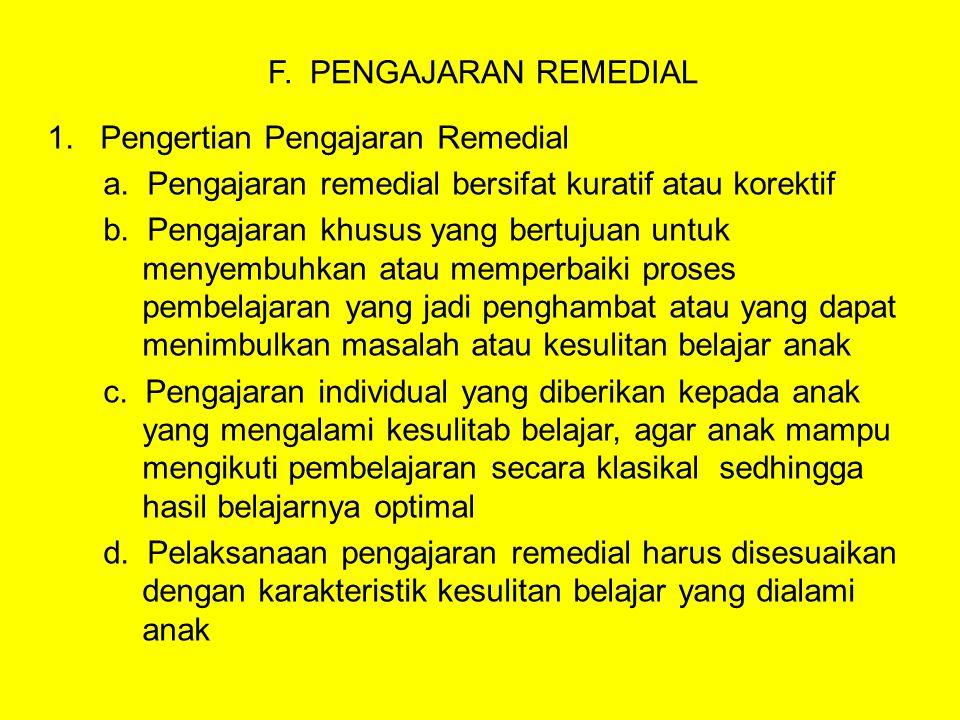 2.Pentingnya Pengajaran Remedial a.