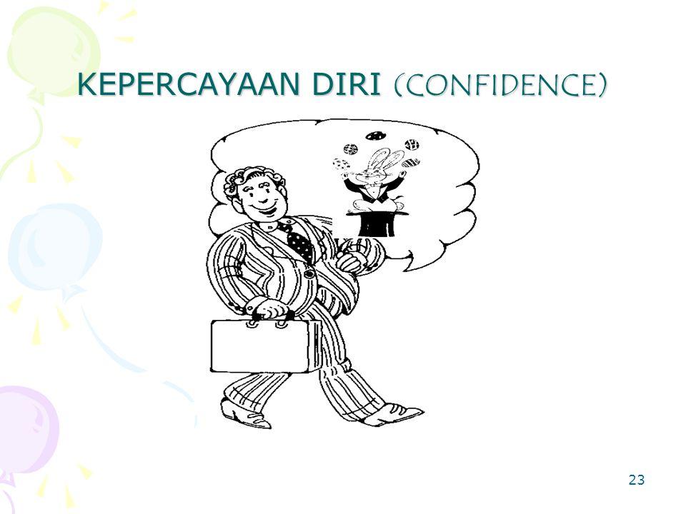 23 KEPERCAYAAN DIRI (CONFIDENCE)