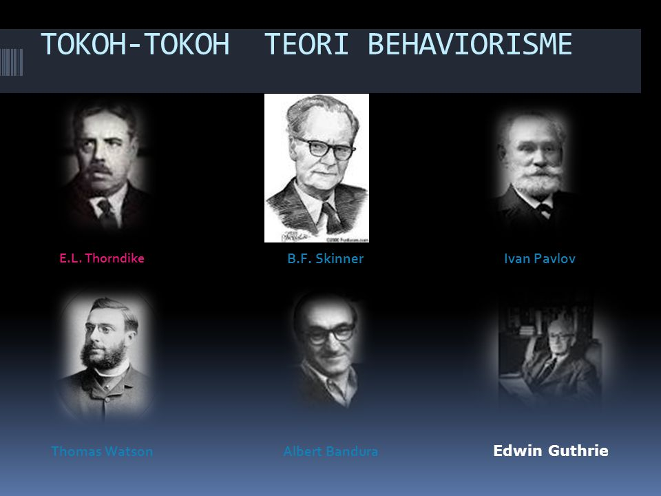 TOKOH-TOKOH TEORI BEHAVIORISME E.L.Thorndike B.F.