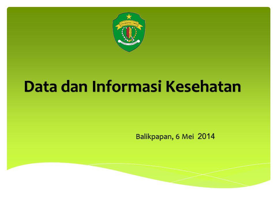 Data dan Informasi Kesehatan Balikpapan, 6 Mei 2014