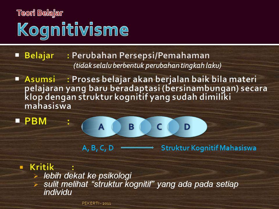 7 A, B, C, DStruktur Kognitif Mahasiswa