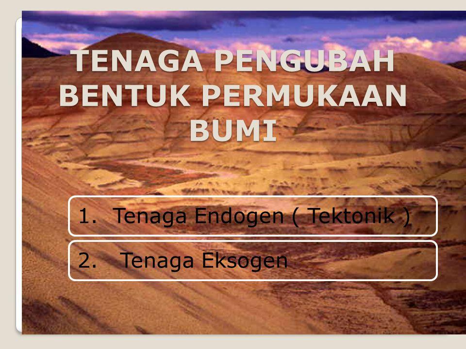 INDIKATOR 1. Mendeskripsikan proses alam endogen yang menyebabkan terjadinya bentuk muka bumi. 2. Mendeskripsikan gejala diastropisme dan vulkanisme s