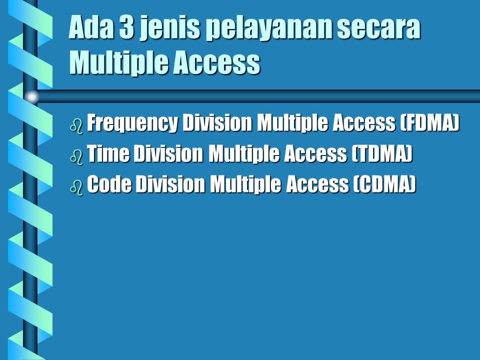 Multiple Acces b Multiple Acces adalah suatu jenis pelayanan komunikasi antara beberapa stasiun bumi, secara serentak (bersamaan) melalui satu satelit
