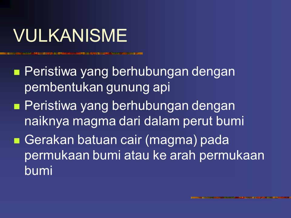 VULKANISME