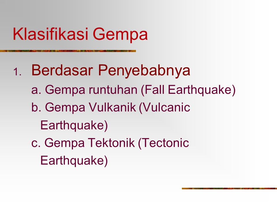 Macam Gelombang Gempa Gel. Longitudinal / Primer / P-Wave: Gelombang gempa yang dirambatkan dari hiposentrum melalui lapisan lithosfer secara menyebar