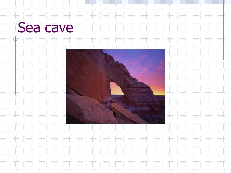 Erosi Oleh Gelombang = Abrasi Menghasilkan Sea Caves dan Cliff