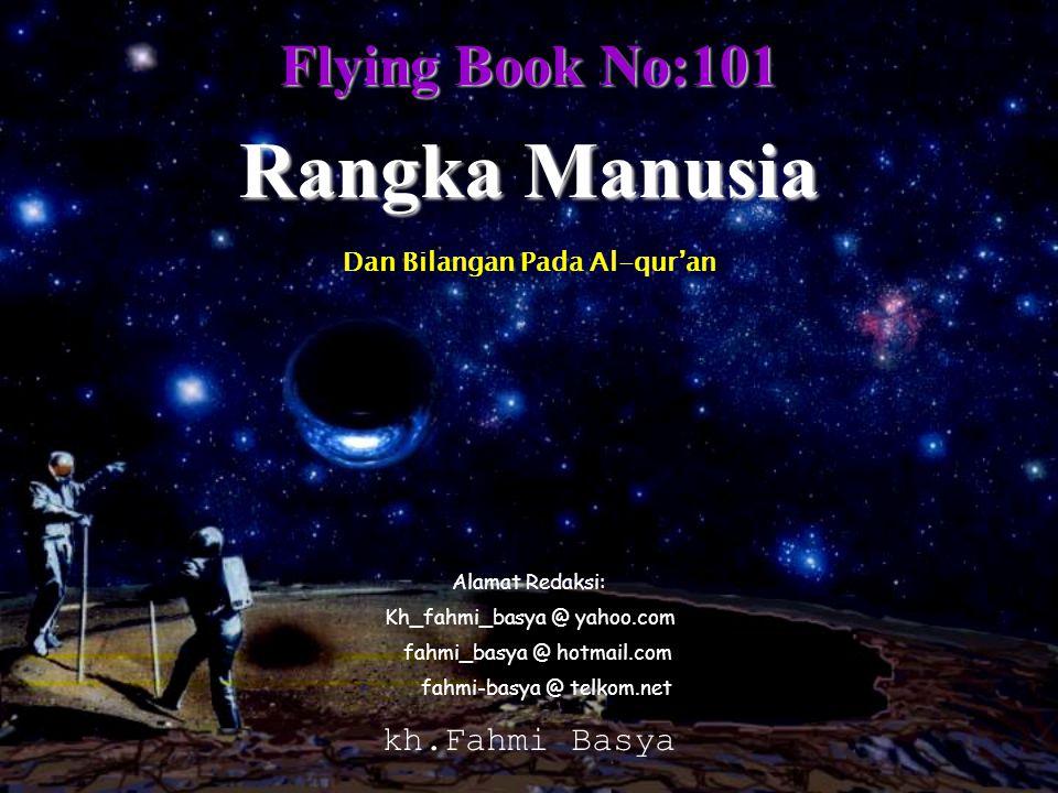 Flying Book No:101 Kh_fahmi_basya @ yahoo.com Rangka Manusia kh.Fahmi Basya Dan Bilangan Pada Al-qur'an Alamat Redaksi: fahmi_basya @ hotmail.com fahm