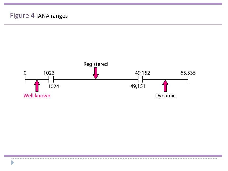 Figure 4 IANA ranges