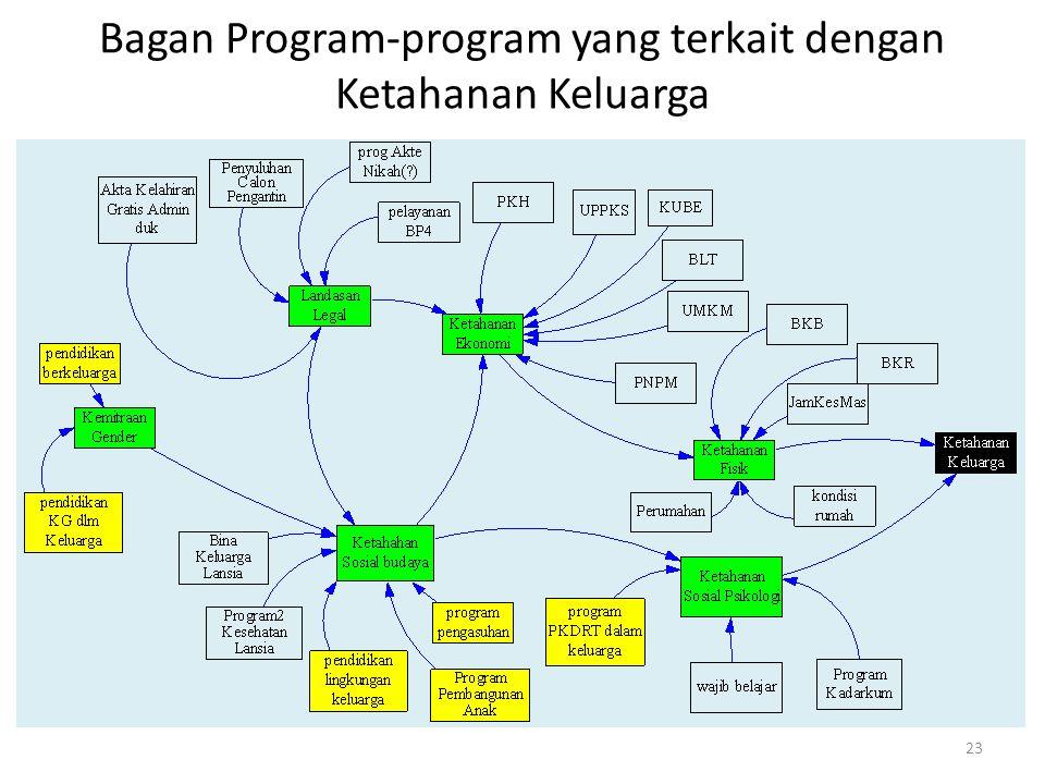 Bagan Program-program yang terkait dengan Ketahanan Keluarga 23