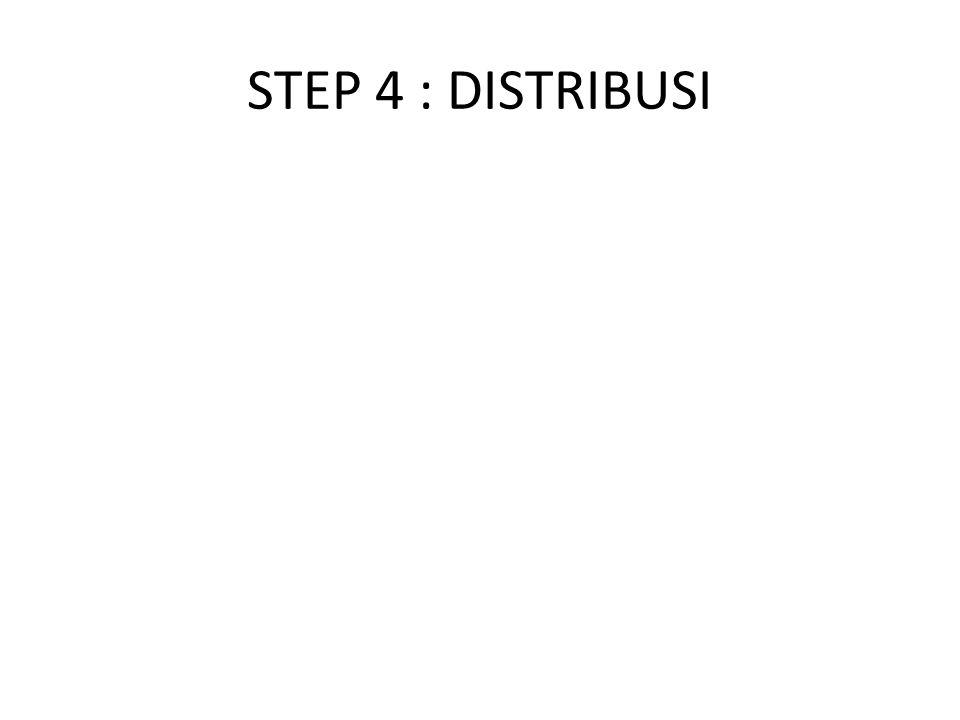 STEP 4 : DISTRIBUSI