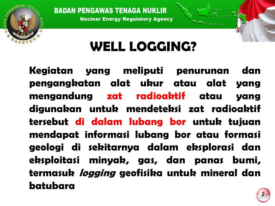 3 Bidang Well Logging: 1.Oil & Gas Well Logging (MIGAS) 2.