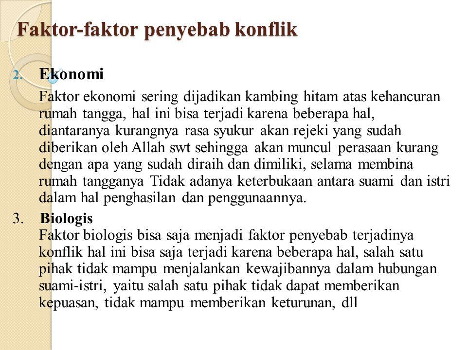 Faktor-faktor penyebab konflik 4.