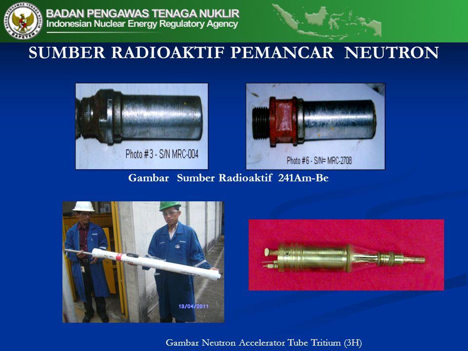 Gambar Neutron Accelerator Tube Tritium (3H) Gambar Sumber Radioaktif 241Am-Be