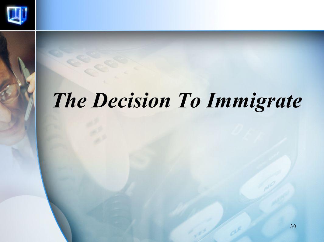 29 Annual Earning between Immigrant and Natives NEGARA KELAHIRAN PERBEDAAN ANTARA IMMIGRANT DAN NATIVES (%) EROPA Jerman Portugal Inggris 24.5 - 3.1 3