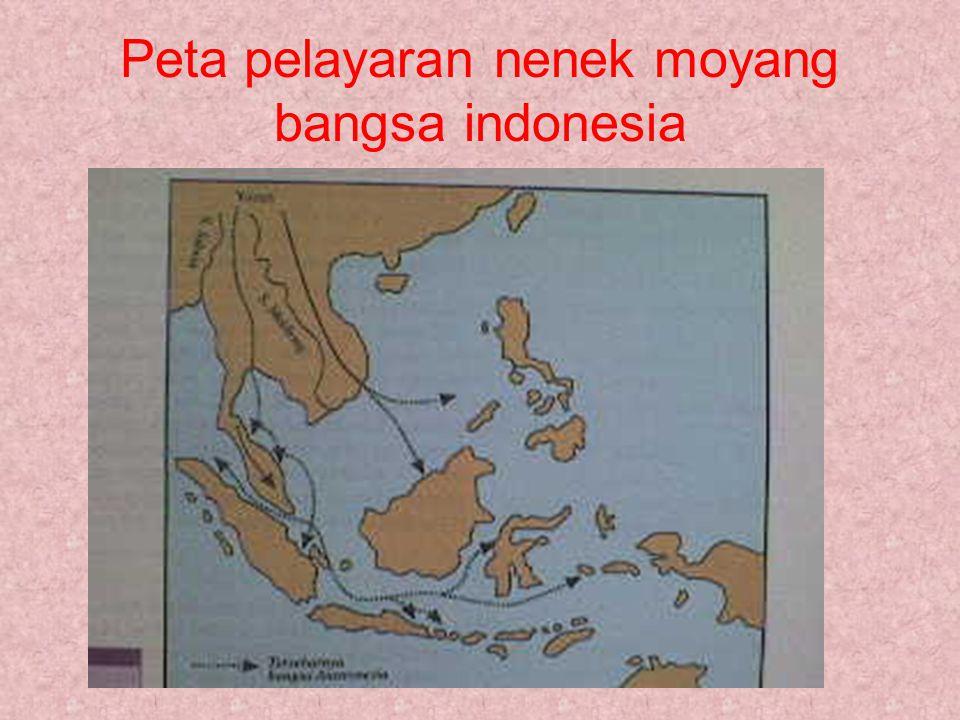 Peta pelayaran nenek moyang bangsa indonesia