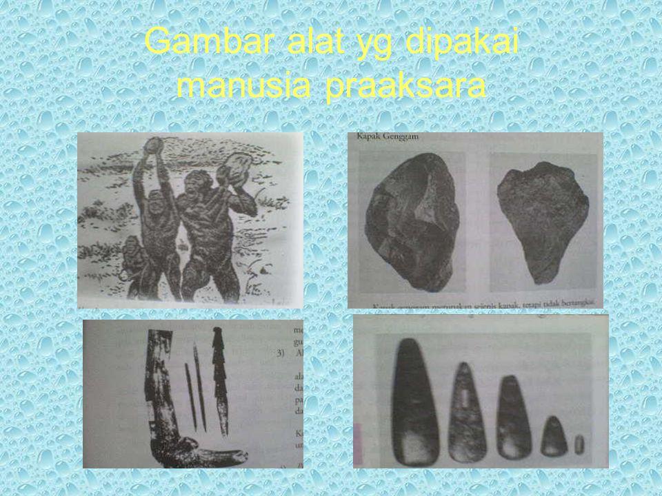 Gambar alat yg dipakai manusia praaksara