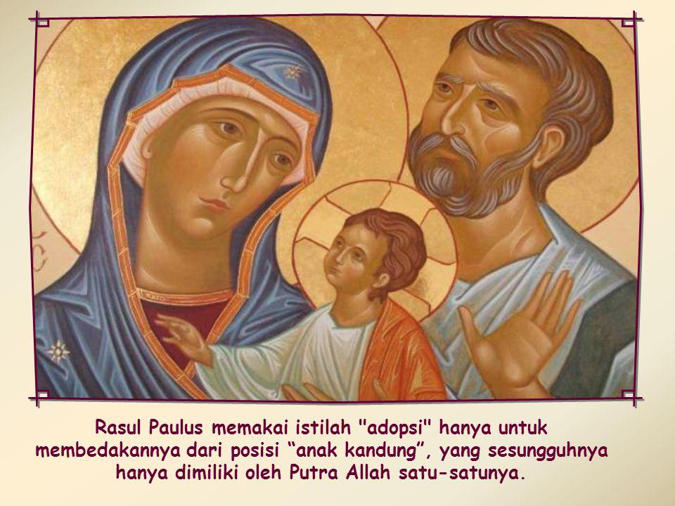 Dengan menjadi satu tubuh dengan Kristus, kita mengambil bagian dalam RohNya serta buah-buahNya, yang terutama sekali adalah kita menjadi anak-anak Allah.