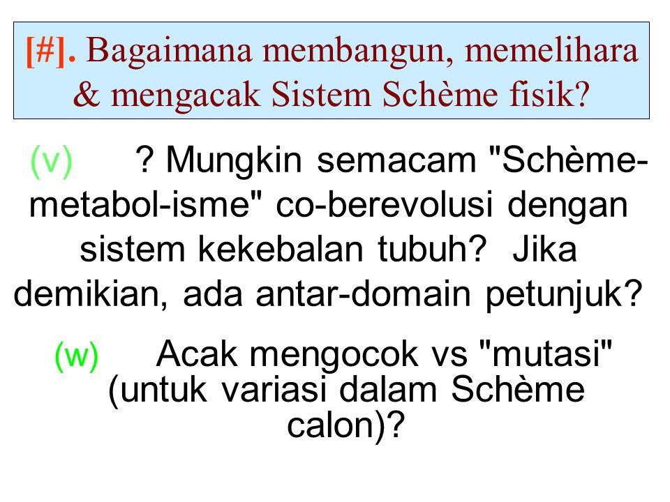 (v) .Mungkin semacam Schème- metabol-isme co-berevolusi dengan sistem kekebalan tubuh.