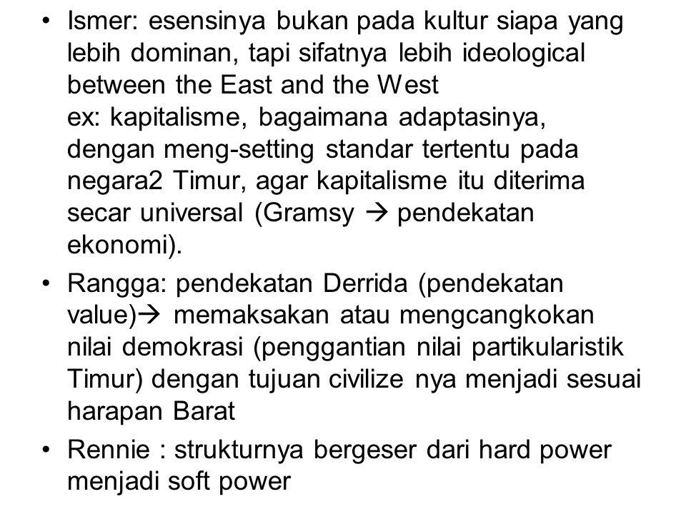 Sinta: geopol modern dan postmodern, apakah itu sama- sama lahir pasca CW, lalu apa bedanya.
