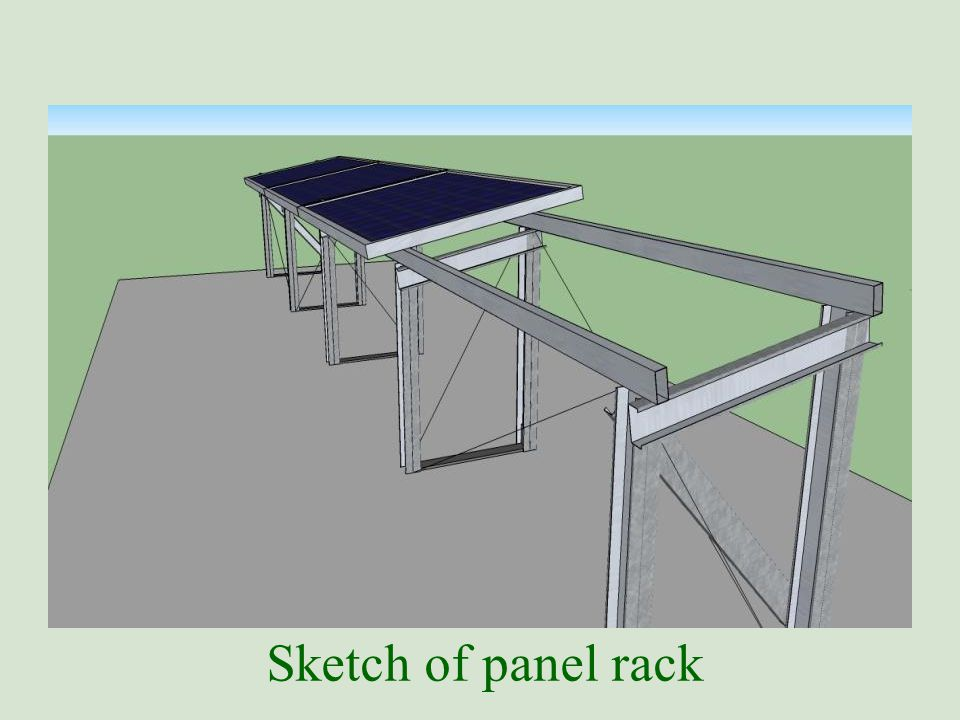 Sketch of panel rack
