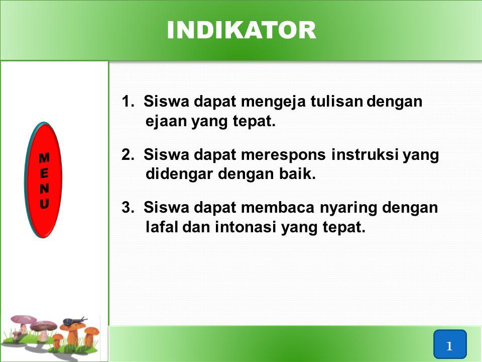 Standar Kompetensi Kompetensi Dasar Standar Kompetensi Kompetensi Dasar 3. Reading ∞ memahami tulisan bahasa Inggris sangat se- derhana dalam konteks