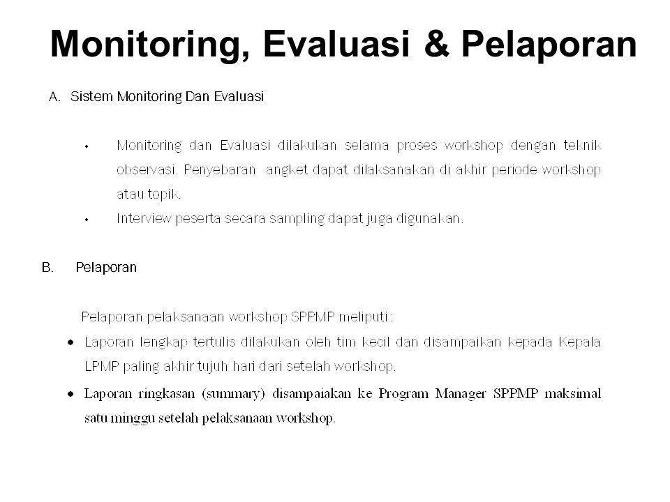 Monitoring, Evaluasi & Pelaporan