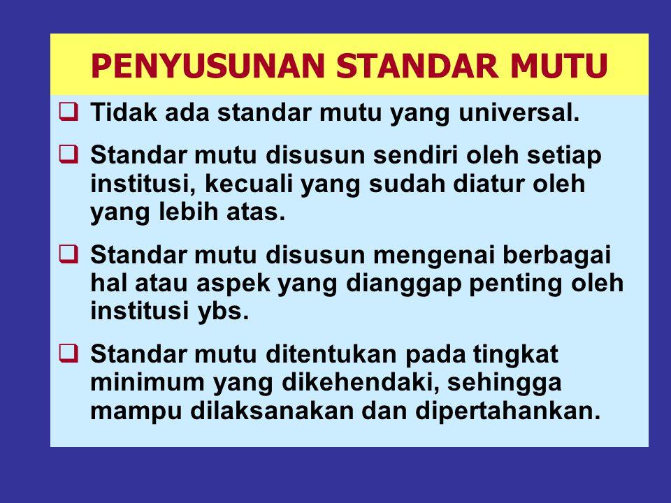 STANDAR MUTU HARUS DAPAT DIUKUR/DINILAI [3] 6.
