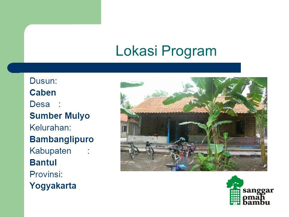Lokasi Program Dusun: Caben Desa: Sumber Mulyo Kelurahan: Bambanglipuro Kabupaten : Bantul Provinsi: Yogyakarta