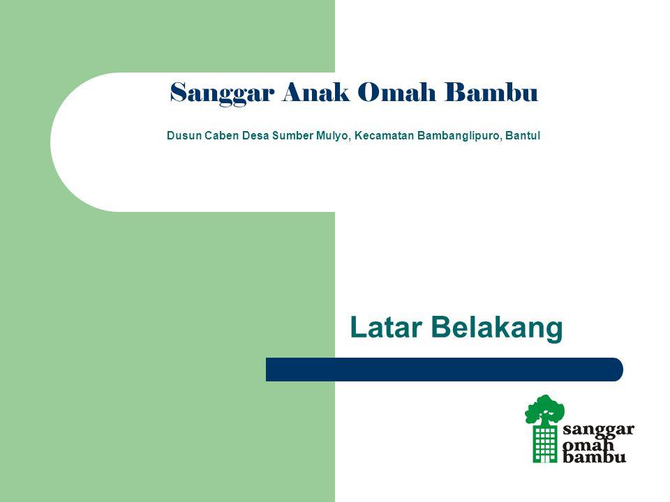 Latar Belakang Sanggar Anak Omah Bambu Dusun Caben Desa Sumber Mulyo, Kecamatan Bambanglipuro, Bantul