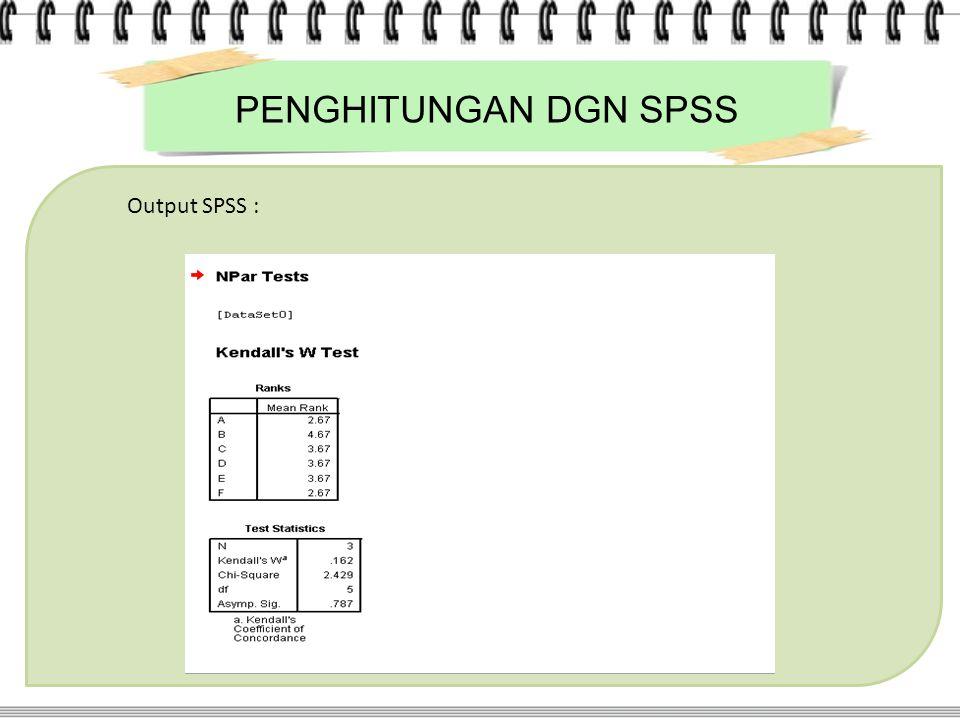 Output SPSS :